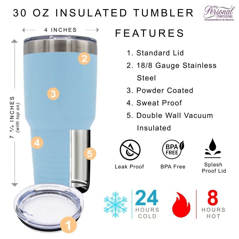 Stainless Steel Adventure Heart Icon Design Choice Personalized Gift Laser Engraved Tumbler Camping Hiking Photography  Cup Custom Name