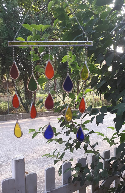 Glasmalerei Suncatcher Tiffany Fenster hängen Multi Farbe ...