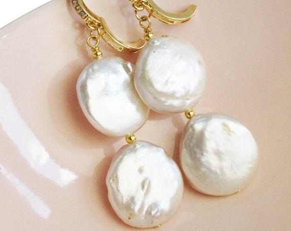 Rivka Pearl Pendant. Real Pearls.