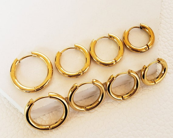 Deborah Hoops. Four Sizes. Stainless Steel.