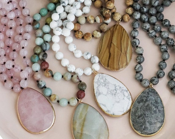 Make Your Own Gemstone Necklace. Choose from 5 Necklaces and 2 Pendants.
