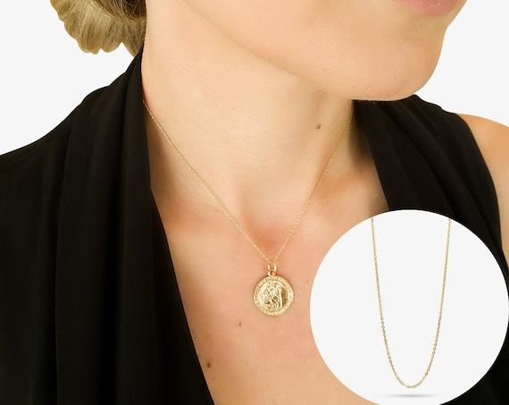 Catherine Necklace. Adjustable Length. 14K Solid Gold.