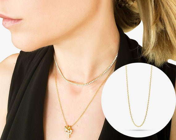 Parker Necklace. Adjustable Length. Gold Plated Sterling Silver.