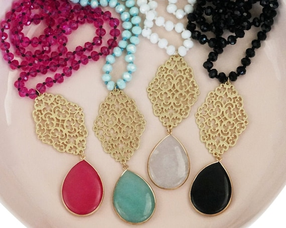 Make Your Own Beaded Necklace. Choose from 4 Necklaces and 2 Pendants.