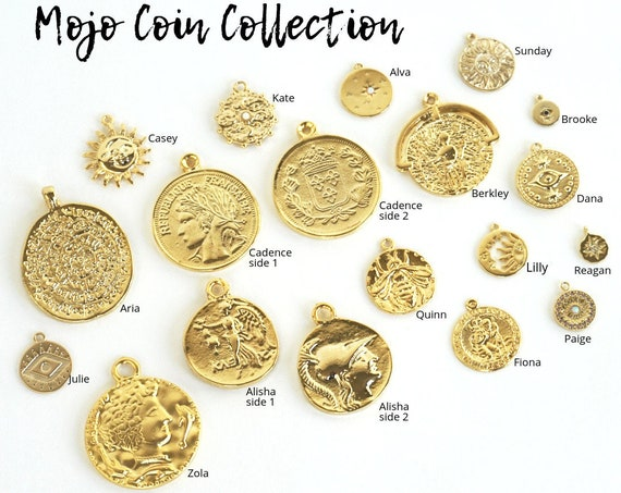 17 Coin Pendant Styles. You Choose.
