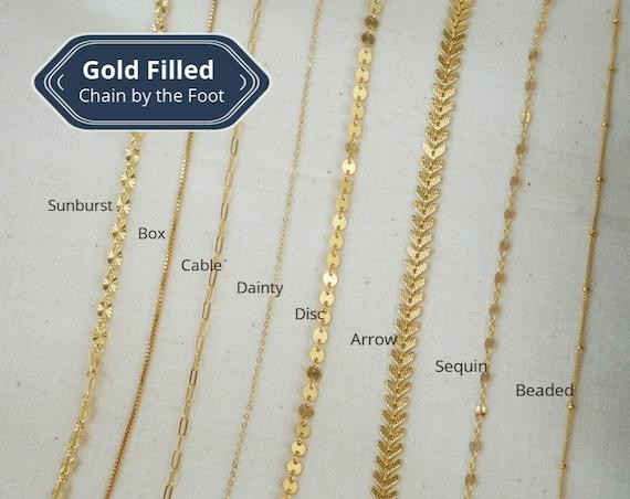 Molly, Jennifer, Alexis, Brianna, Luna, Katrina, Melanie, and Michelle Chain. Eight Types. 14K Gold Filled.