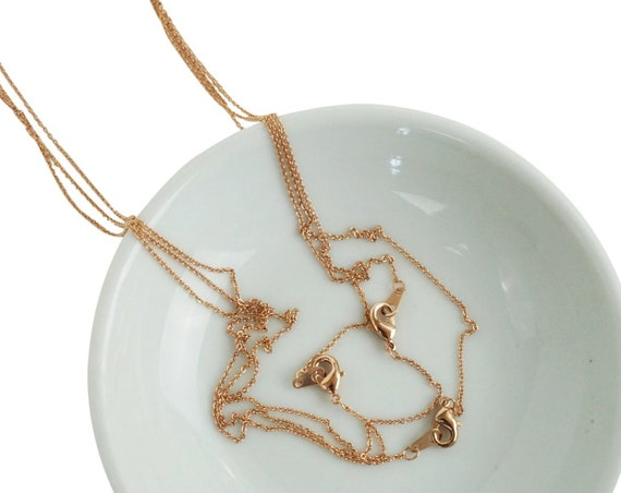 Kathleen Necklace. 16K Rose Gold Plated Brass.