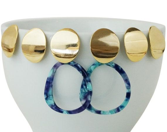 Erica Studs. 24K Gold Plated Brass.