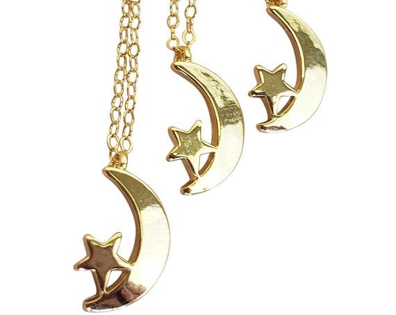 Naya Celestial Pendant. Gold Filled.