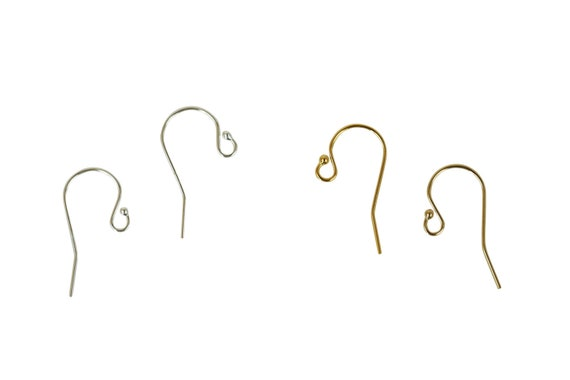 2 Pairs Samra Hooks. Two Colors. 14K Gold Filled or Sterling Silver.