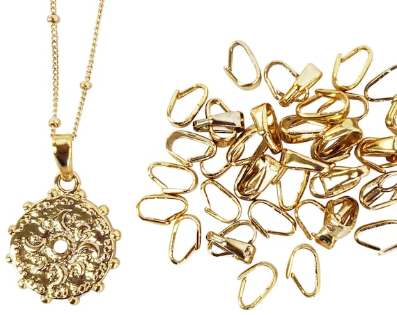 10 Esther Bails. 24K Gold Plated Brass.