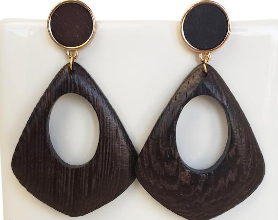 Two Carina Pendants. Wood.