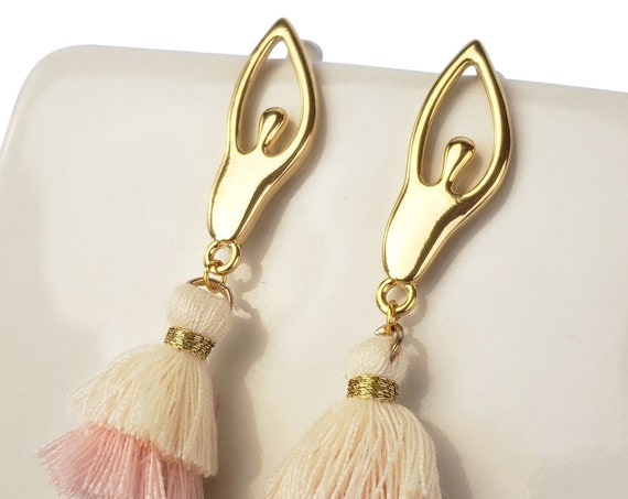 Clarice Earrings. 24K Gold Plated Brass.