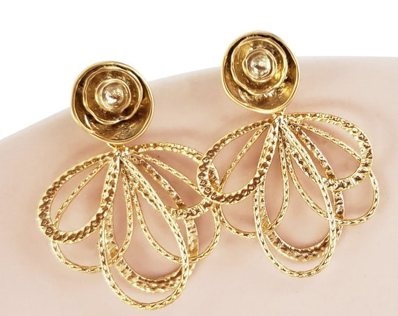 Anais Studs. Matte Gold Plated Brass.