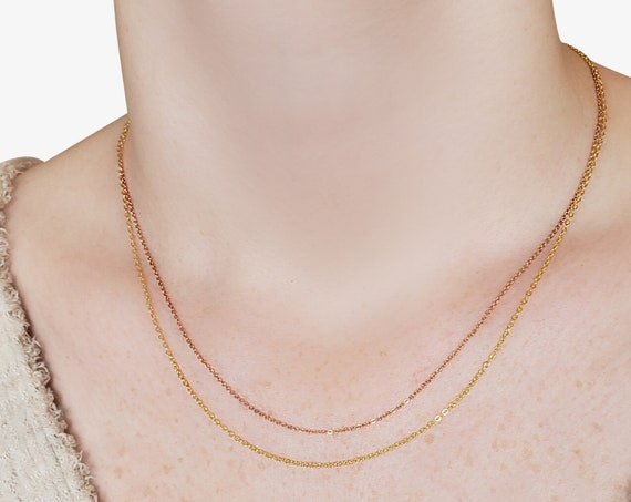 Kathleen Necklace. Gold or Rose Gold. 16K Gold Plated Brass.