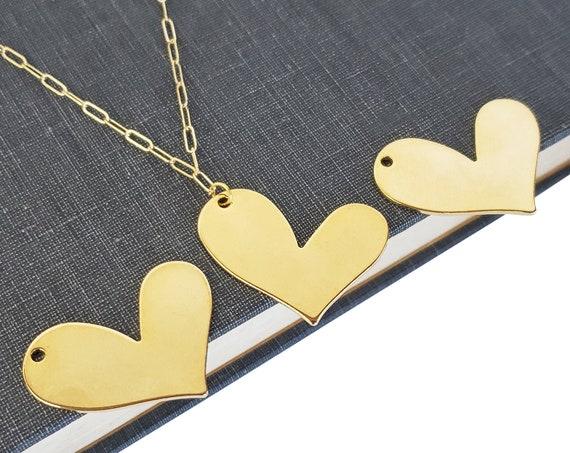 Arden Heart Pendant. Gold Filled.