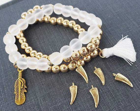 Margo Horn Pendant. Gold Filled.