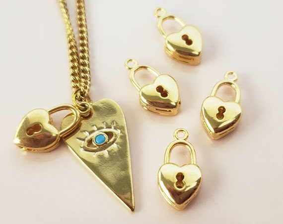 Waverly Heart Pendant. Gold Filled.