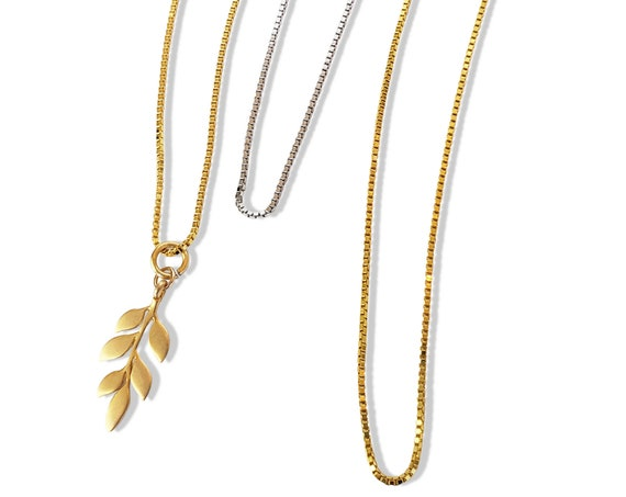 Stacy Necklace. Sterling Silver or Gold Plated Sterling Silver.
