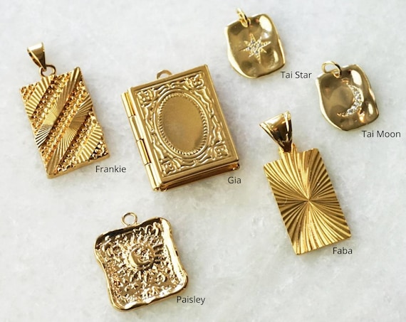 Frankie, Paislee, Gia, Faba, Tai. 5 Styles. Gold Filled and Gold Plated.
