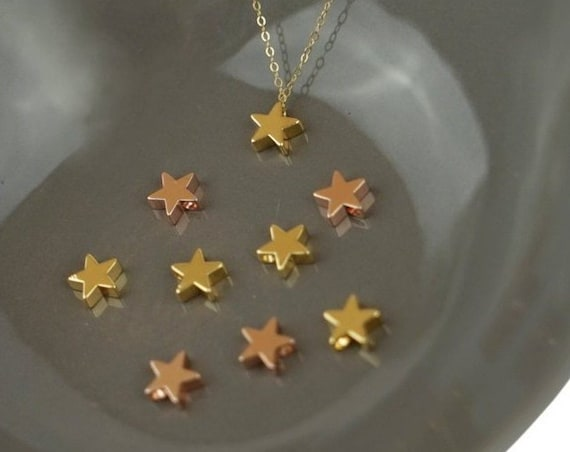 Aiden Star Pendant. Gold or Rose Gold Plated.