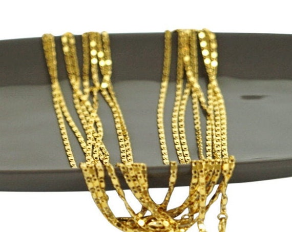 Olivia Necklace. 24K Gold Plated.