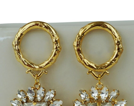 Harriet Earrings. Gold Plated Brass.