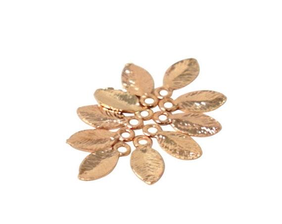 Jane Leaf Pendant. 16K Gold Plated Brass.