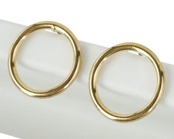 Dulce Studs. Gold Plated Brass.