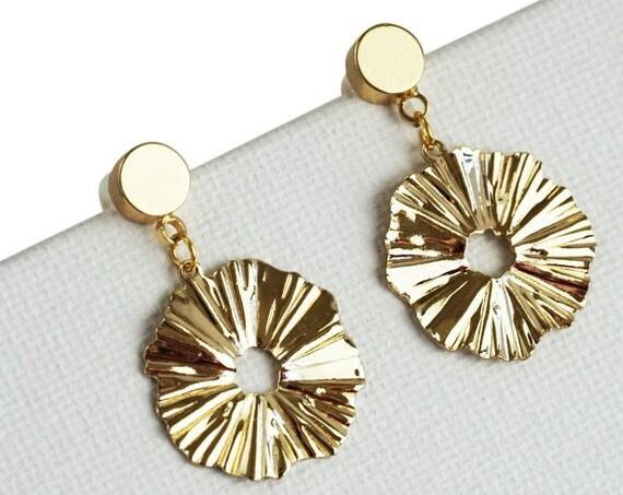Jaelynn Pendant. 18K Gold Plated Brass.