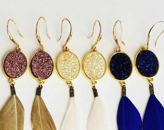 Noor Connector. Three Colors. Gemstone and Gold Plating.