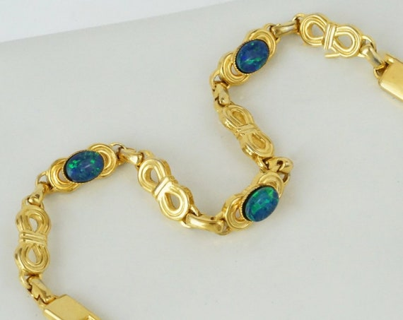 Vintage Francis Bracelet. Beads and Gold Plating.