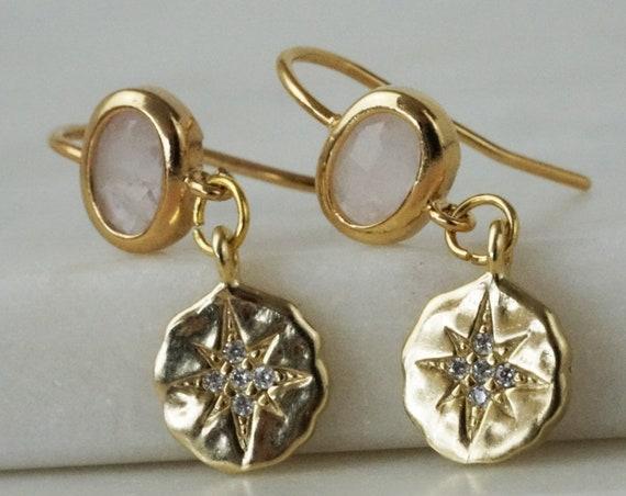 Reagan Star Charm. Gold Plated Brass.