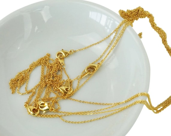 Kathleen Necklace. 16K Gold Plated Brass.