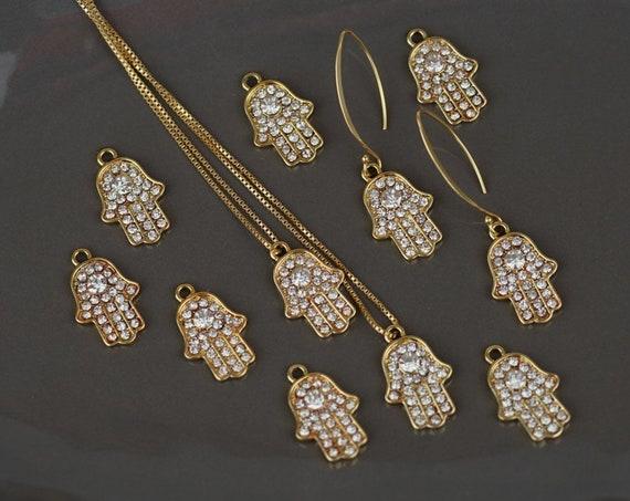 Harmony Pendant. Gold Plating and Cubic Zirconia.