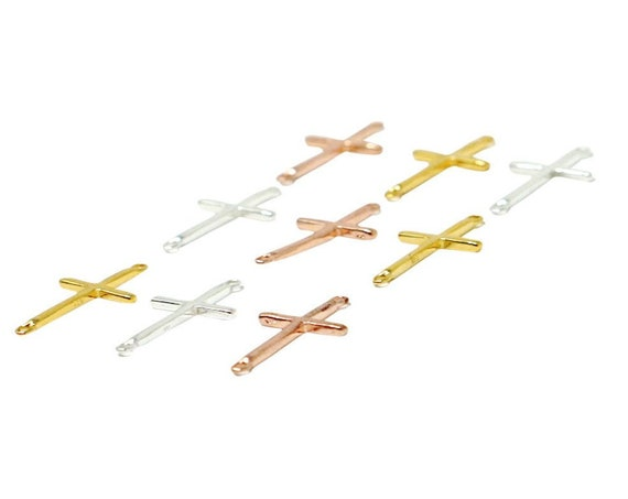 Christine Cross Connector. Three Colors. 22K Gold Plated Sterling Silver or Sterling Silver.