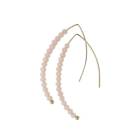 Bram Earrings. Pink.