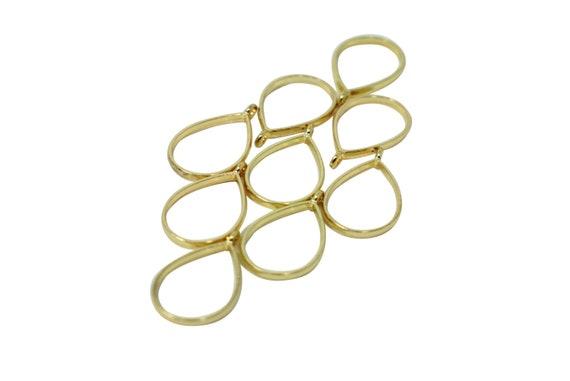 2 Tanya Pendants. Gold Plated Brass.