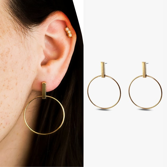 Amayah Earrings. Gold Plated Brass.