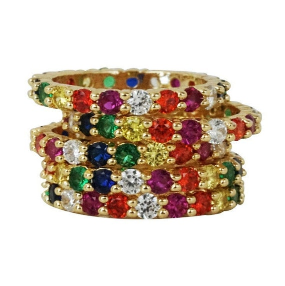 Jana Rainbow Ring. Three Sizes.