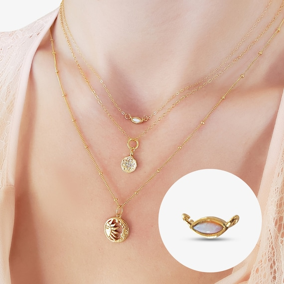 Sally Connector or Rachel Pendant. Gold Plated Brass and Glass.