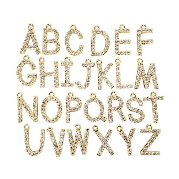 Joni Initial Pendant. 16K Gold Plated Brass.