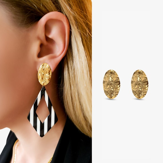 Fawn Earrings. Gold Plated Brass.
