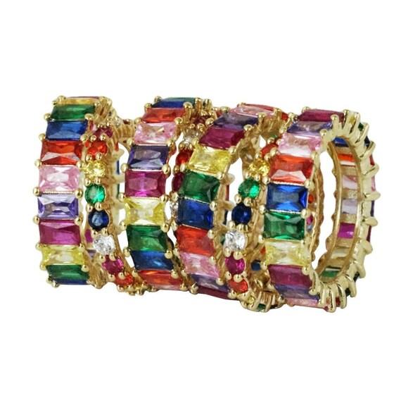 Jana Rainbow Ring. Three Sizes.