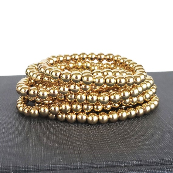 Ayleen Beaded Ball Bracelet. 5mm or 6mm. Gold Filled.