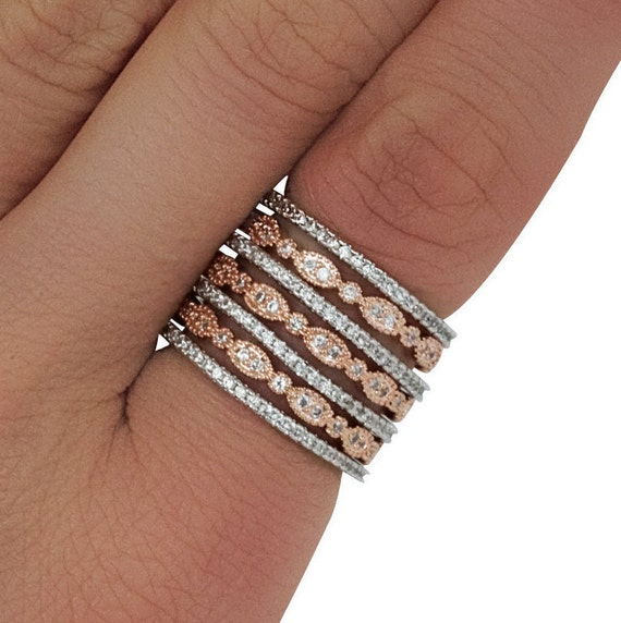 Vienna Stacker Rings. Two Styles. Three Sizes.