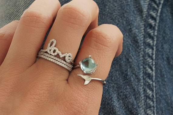 Jayden Save the Whales Ring. Adjustable.