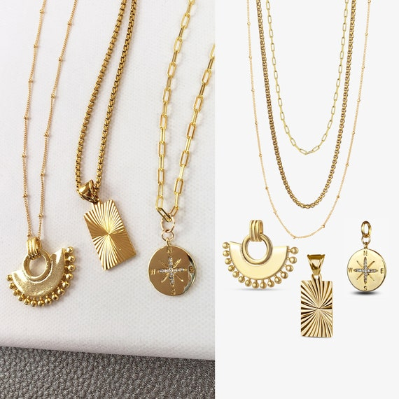 3 Style Layered Necklace Collection.