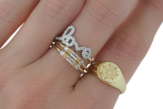 Rosalyn Love Ring. Three Sizes.