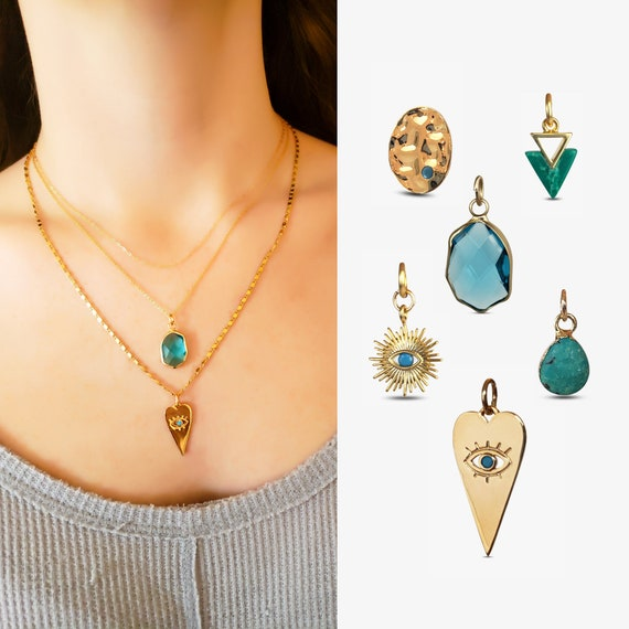 Turquoise Layered Necklace Collection. Six Styles.